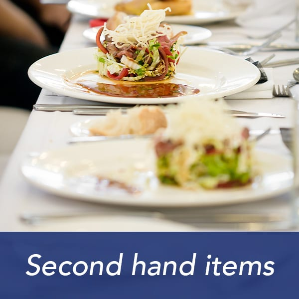 Second hand catering items