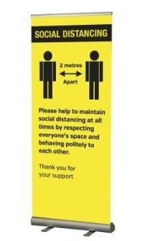 Please Keep 2 Meters Apart Banner Roneford Catering Crockery