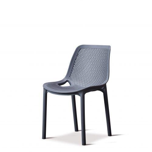 Cruz Side Chair Dark Grey