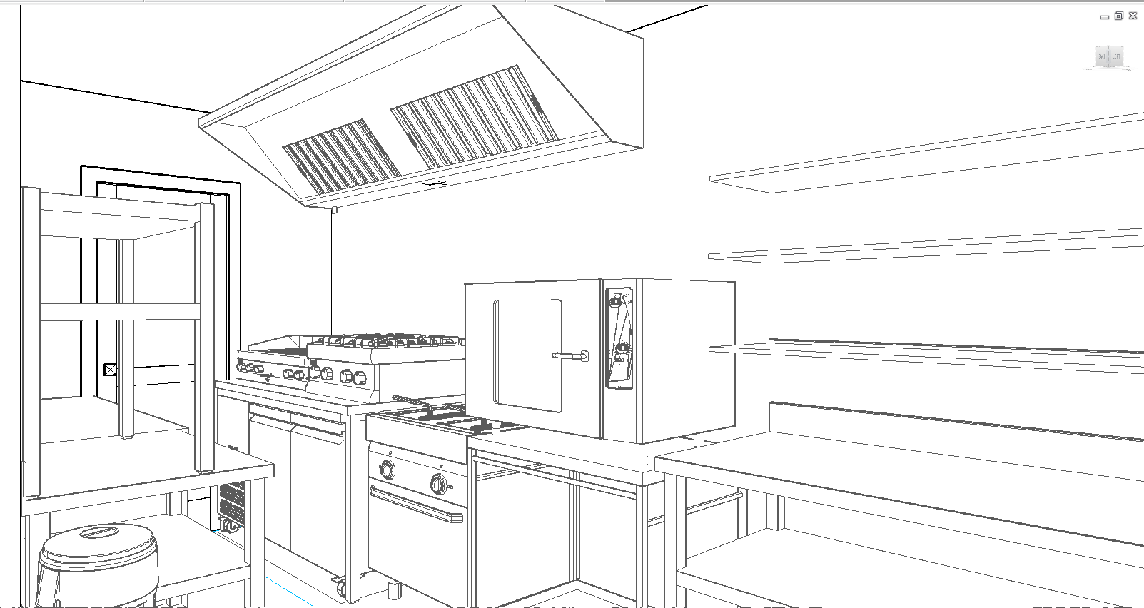4 Story Cafe drawings